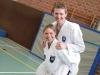 Karate auf starken Schultern